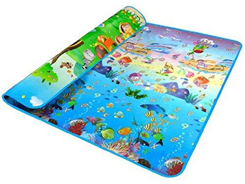 niceEshop(TM) Baby Spiel Matten Kriechend Baby Gym Spielmatten, Beidseitig (Multifarbe)