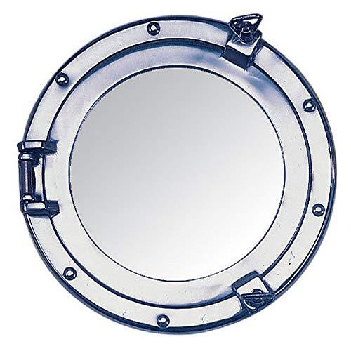 Nauticalia Spiegel, Bullauge, Aluminium, 15 cm, silberfarben