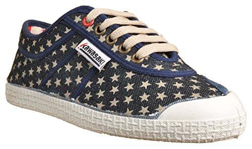 Kawasaki Sneaker American Icon WhiteStars Washed-denim Bleu - Washed denim-WhiteStars