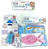 First Steps Baby Badewanne Bundle komplett Set Inc. Badewanne Bücher/Bad Spielzeug Boote/Badeschwämme/Bad Thermometer