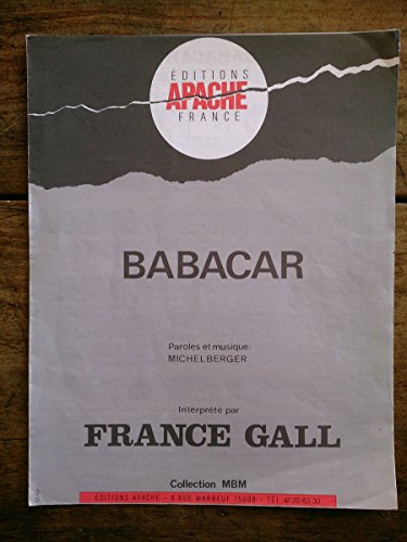 babacar-partition-france-gall-paroles-et-musiques-de-michel-berger