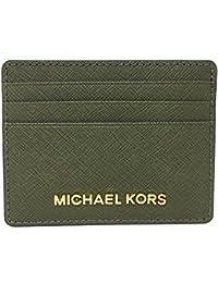 d32b1b80c892 Michael Kors Jet Set Travel Large Saffiano Leather Card Holder (Olive)