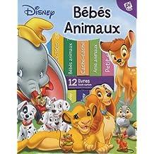 Ma première bibliothèque bébés animaux de Disney : Coffret de 12 livres tout-carton