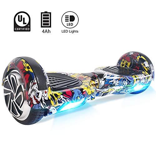 Windgoo Hoverboard 6,5 Pouces,Overboard Gyropode Smart Scooter 700W Self Balance Board avec LED Auto-équilibrage pour Enfants et Adultes