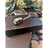 Handmade Silver Caravan Holiday Keyring/Handbag Charm. Can be personalised.