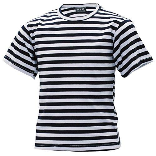 MFH Kinder Russisches Marine Shirt Blau Weiß Kids Matrosen Shirt Gestreift Sommershirt (M (134/140))