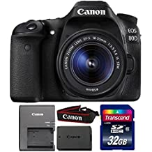 Canon Eos 80D 24.2MP Digital SLR Camera With 18-55mm Is STM Lens And 32GB Memory Card