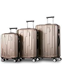 7646b500f614a Flieks Hartschale Trolley Koffer Roller Case Reisekoffer Zwillingsrollen  Reisekoffer mit Zahlenschloss Handgepäck…