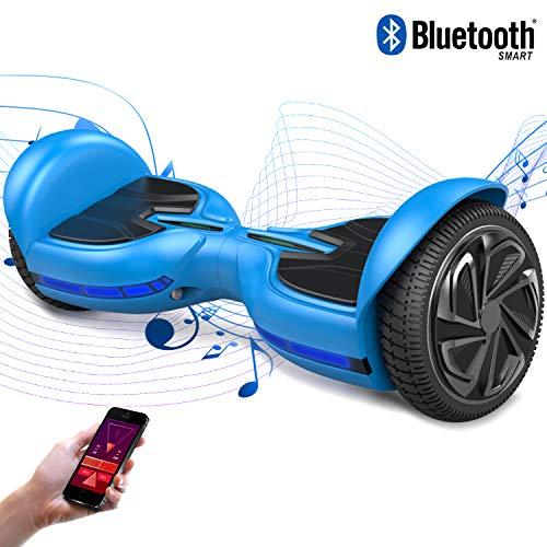Preisvergleich Produktbild 2WD Hoverboard Q3 selbst ausgewogene Roller 6, 5 Zoll Elektroroller CE zertifiziert mit eingebautem Stereo Sound Bluetooth Lautsprecher (Blau)