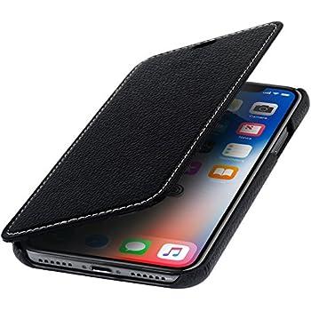 Etui iPhone X, Spigen® [Wallet S] Portefeuille [Noir] Housse avec STAND Flip Housse Etui Coque