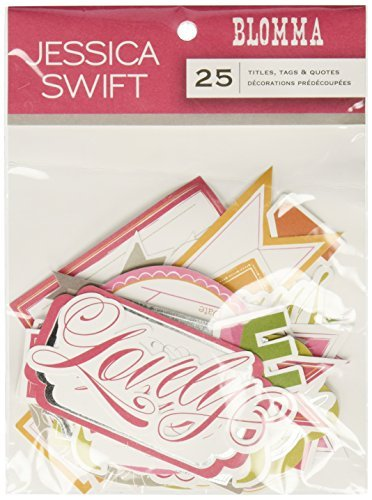 Blomma Die-Cuts 25/Pkg-Titles, Tags & Quotes by