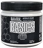 #1: Liquitex BASICS Acrylic Paint 946 ml, Titanium White