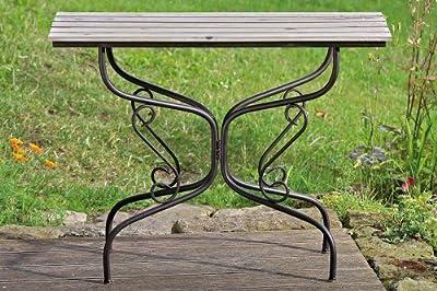 Tisch Neven Metall & Holz B 39cm Balkontisch schmaler Holztisch Gartentisch von Boltze Gruppe