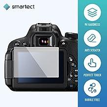 1x protección pantalla de cristal templado para Canon EOS 700d/750d/70d/Rebel T5i de SmarTect® | Protector ultrafino de 0,3mm | luna Robuste con 9H de dureza y revestimiento antihuellas de dedos