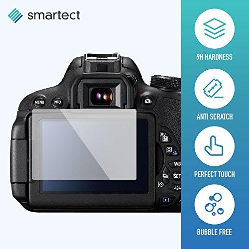 Panzerglas Folie für Canon EOS 700D / 750D / 70D / Rebel T5i • Panzerfolie mit 9H Härte • Blasenfreie Montage der Folie • Ultra-Dünn (0.3 mm) • Gerundete Kanten (2.5D) • Displayschutzfolie mit Anti-Fingerabdruck