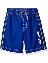 Nautica Boys' Swim Trunk with Marled String and Back Pocket