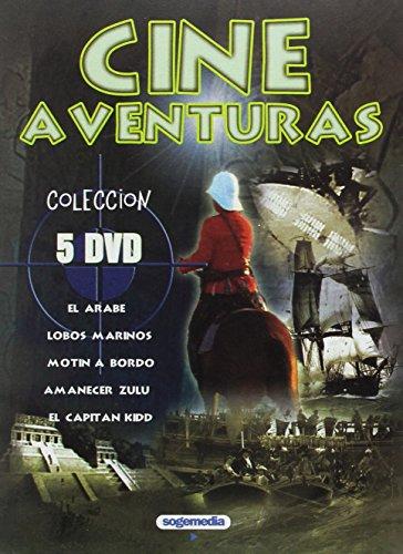 Cine de Aventuras 5 DVD El Arabe + Lobos Marinos + Motin...