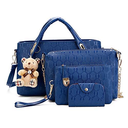 Pahajim Damen Handtaschen Handtaschen Leder Frauen Handtaschen Set 8 teiliges Fashion Rucksack Damenhandtasche tasche taschen günstig beuteltasche günstige handtaschen - Personalisierte Boston Bag