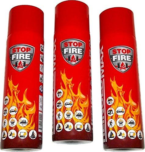 feuerloescher spray 3er Set Lönartz® 500 Feuerlöschspray (Feuerlöscher) (auch für Fettbrände, 3x500g netto) Reinold Max