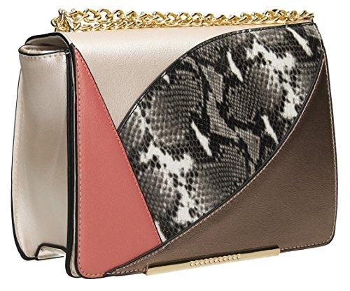 Snakeskin Ari-Custodia, borsa a tracolla da donna, borsetta Holiday SWANKYSWANS Rosa (rosa)