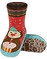GALLUX - Baby Kinder Socken Hausschuhe mit Ledersohle Gr. 19 - 21