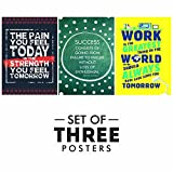 #4: Paper Plane Design Motivational/Inspirational Quotes Posters - Set of 3, Size 12 x 18 Inch