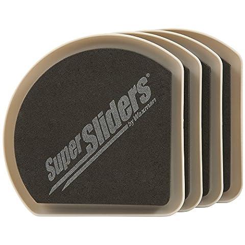 réutilisable Feutre Slide et cacher meubles Movers pour sols durs (4pièces)–12,7cm Supersliders, 4734195N