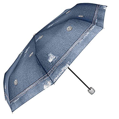 Paraguas Plegable Mujer Estampado Jeans Azul - Mini