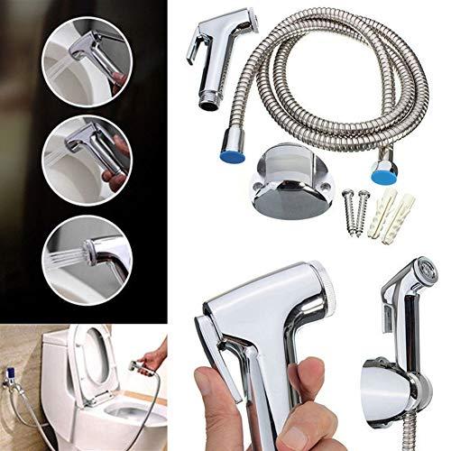 Gutyan Bath Toilet Wall Mounted Thermostatic Mixer Valve Handheld Bidet Sprayer Shower Head Douche kit Set Edelstahl Sprayer Toilet Bidet Duschkopf mit Schlauch und Brackethalter