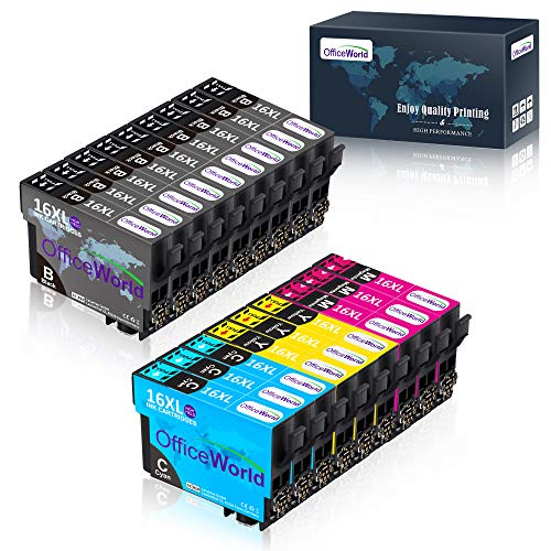 ¡Disfrute de los cartuchos de OfficeWorld que le proporcionan una vida colorida y cómoda! Compatibilidad de la impresora : Epson WorkForce WF-2010, WF-2510, WF-2520, WF-2530, WF-2540, WF-2630, WF-2650, WF-2660, WF-2750, WF-2760Epson WorkForce WF20...