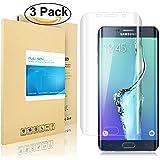 Galaxy S6 Edge Plus de Pantalla, PULESEN® [3-PACK] [3D completo borde curvado] Protector de pantalla para Samsung Galaxy S6 Edge Plus [borde a borde] y extrema claridad invisible protección
