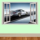 Super Auto super cars hyper cars späht Kinder-Lieblings-Charaktere fenster 100cm Wandtattoo, Vinyl, Motiv: Wandkunst, Customise4U™ (porsche window)