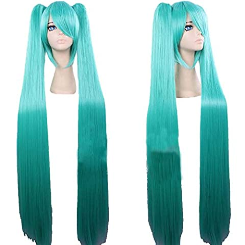 Xcoser Anime Perruque 100cm Long Straight Cosplay Costume Cheveux accessoires for Girls Women