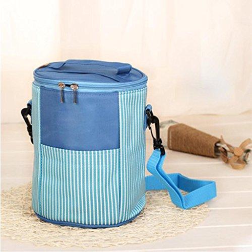 MOXIN Pacchetto di isolamento - Portable Circolare Pranzo Refrigerato Addensato , medium: pretty powder (ice pack) size: elegant blue (ice pack)