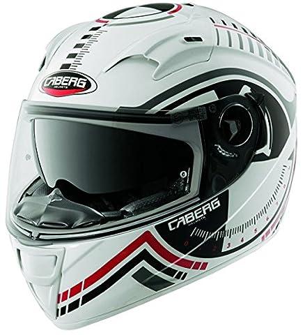 CABERG VOX RIVAL MOTORCYCLE MOTORBIKE ADULT SPORTS FULL FACE HELMET White - White - S