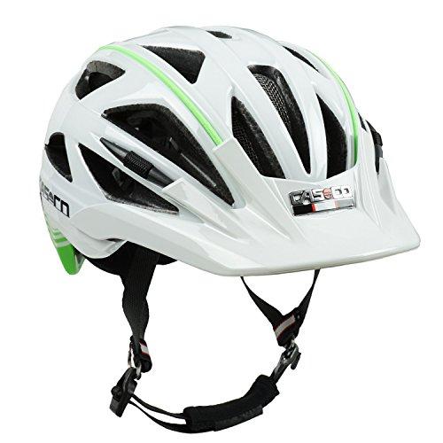 Fahrradhelm Casco Activ 2, weiß-grün glänzend - Biese lime, Gr. M (56-58 cm)