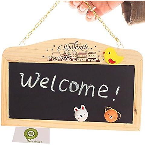KIWISUNNY Doble caras mini Pizarra Magnética Madera WordPad de tablero de mensajes para oficina a fiesta boda de decoración