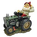Design Toscano Der pflügende Pete auf seinem Traktor, Gartenzwerg