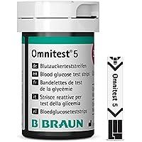 Preisvergleich für B. Braun Omnitest 5 Blutzucker Teststreifen Sensoren 50 Stück