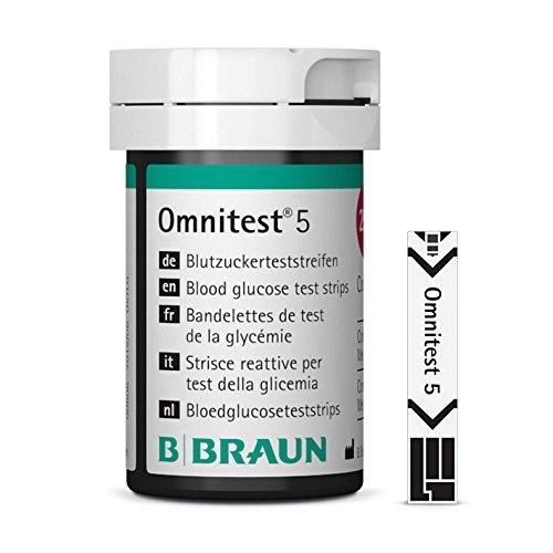 B. Braun Omnitest 5 Blutzucker Teststreifen Sensoren 50 Stück -