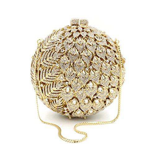 High-end Bag Banchetto Portatile Borsa Da Sera Di Lusso Del Diamante Delle Donne Gold