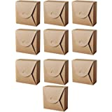EXCEART 10Pcs Kraft Paper Candy Box with Ribbons 18X18x8CM Christmas DIY Treat Box Holiday Bakery Gift Box for Xmas Wedding P