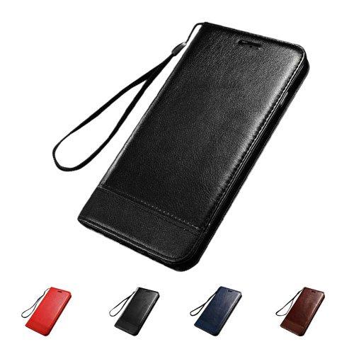 F8Q haute qualité Housse en cuir magnétique flip Cover Stand For Apple iPhone 6S bleu