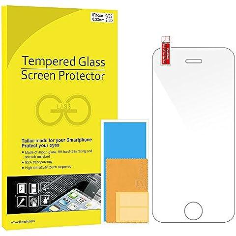 JETech - Protector de pantalla de vidrio templado para Apple iPhone 5/5s/5c/SE, transparente