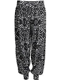 Fast Fashion Women's Harem Trousers Snake, Leopard and Alphabetdruck Plus Size
