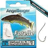 Angel-Berger Vorfachhaken gebundene Haken (Forelle/Sbirolino, Gr.10 0.20mm)