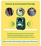 2er-Set AngLink Solar Katzenschreck Ultraschall abwehr mit Batteriebetrieben und Blitz - 2