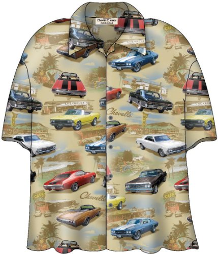 Chevy Chevelle SS Classic Cars Camp Hawaiian Shirt by David Carey (XL) -