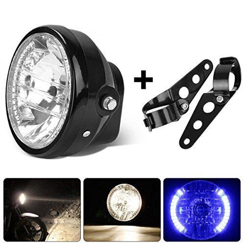 Preisvergleich Produktbild Partsam Universal 7 Motorcycle Headlight Blue LED Turn Signal Indicators With Bracket by Partsam