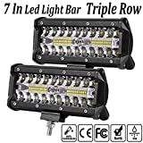 LED Light bar 7inch Offroad luci LED pod lavoro luci bar guida nebbia luci impermeabile Spot Flood combo fascio camion